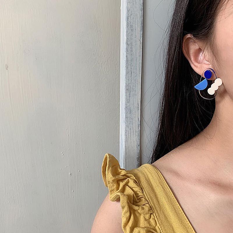 AENSOA New Cute Candy Color Acrylic Drop Earring Fashion Creative Summer Hypoallergenic Needle Jewelry Dangle Earrings for Women