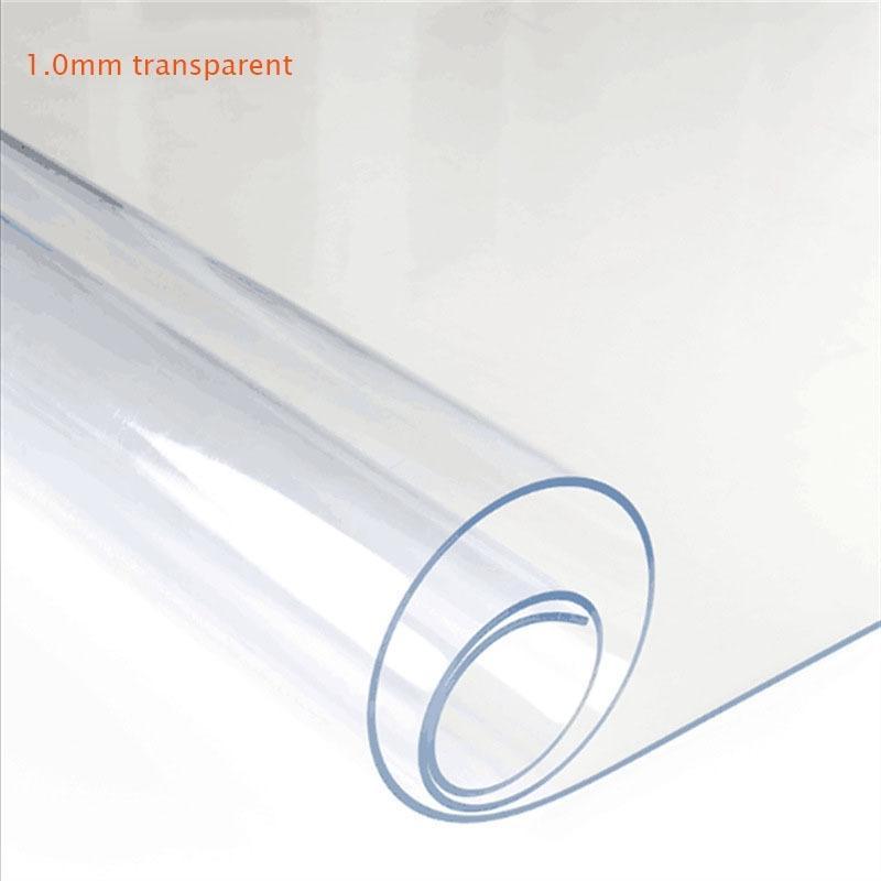 Transparent PVC Tischtuch Mattiert Tischplatte Schutzabdeckung Wasserdichte Küchenmuster Öl Tischtuch Glas Weiches Tuch 1.0mm LJ201222