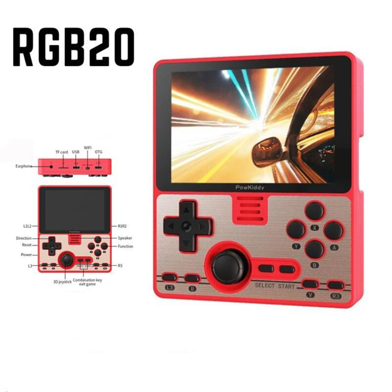 Portable Game Players RGB20 Retro Console 3.5inch IPS Screen Built-in Wifi Multiplayer Online RK3326 Open Source System Player