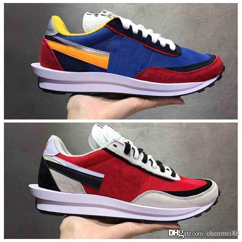 Novo disfarçado X Sacai LDV Waffle Daybreak Trainers Sapatos para Homens Mulheres Designer de moda Respirado Tênis Sneakers Esportes Tênis