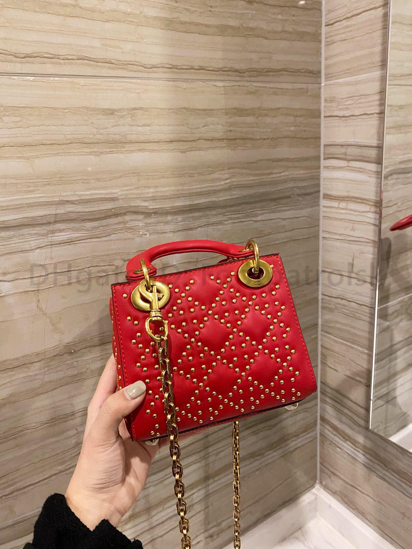 Топ модные сумки роскоши лучшие заклепки седло качество Crossbody сумка женские сумки сумки дизайнеры 2021 сумочка клатч леди сумки на плечо AJGJ