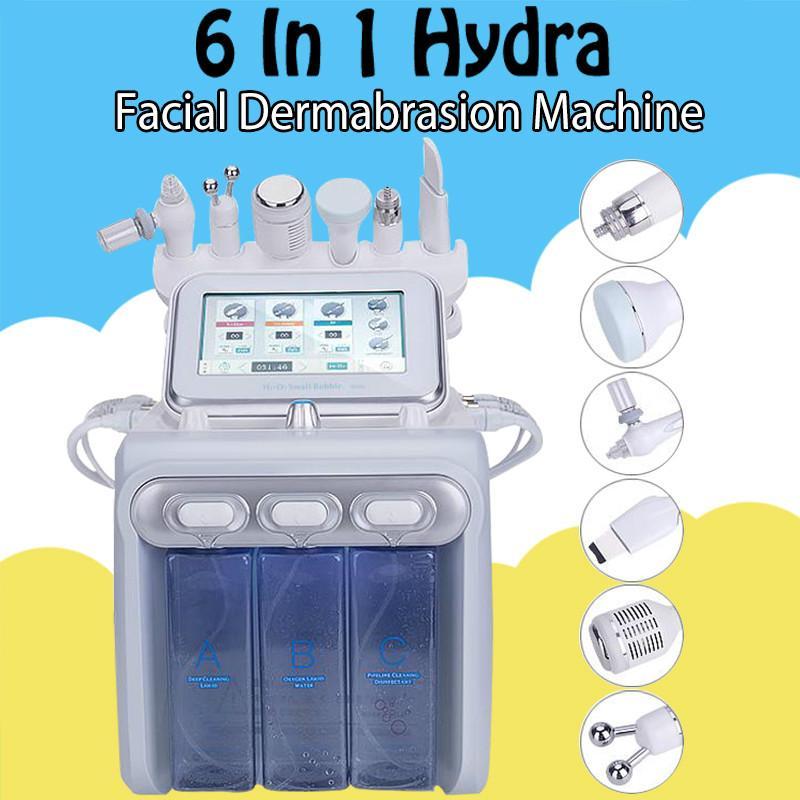 H2O2 İşlevli 6 in 1 Hidrojen Oksijen Küçük Kabarcık Yüz Cihazı Hydra Su Aqua Dermabrazyon RF Bio-Kaldırma Oksijen Jet Yüz Bakımı