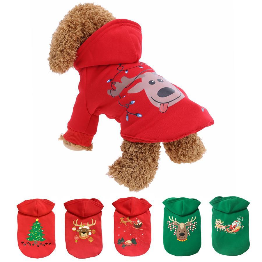 Haustier Hund Kostüm Winterkleidung Weihnachtshundtuch für Welpen Baumwolle Hundekleidung Pet Dekoration Hunde Liefert