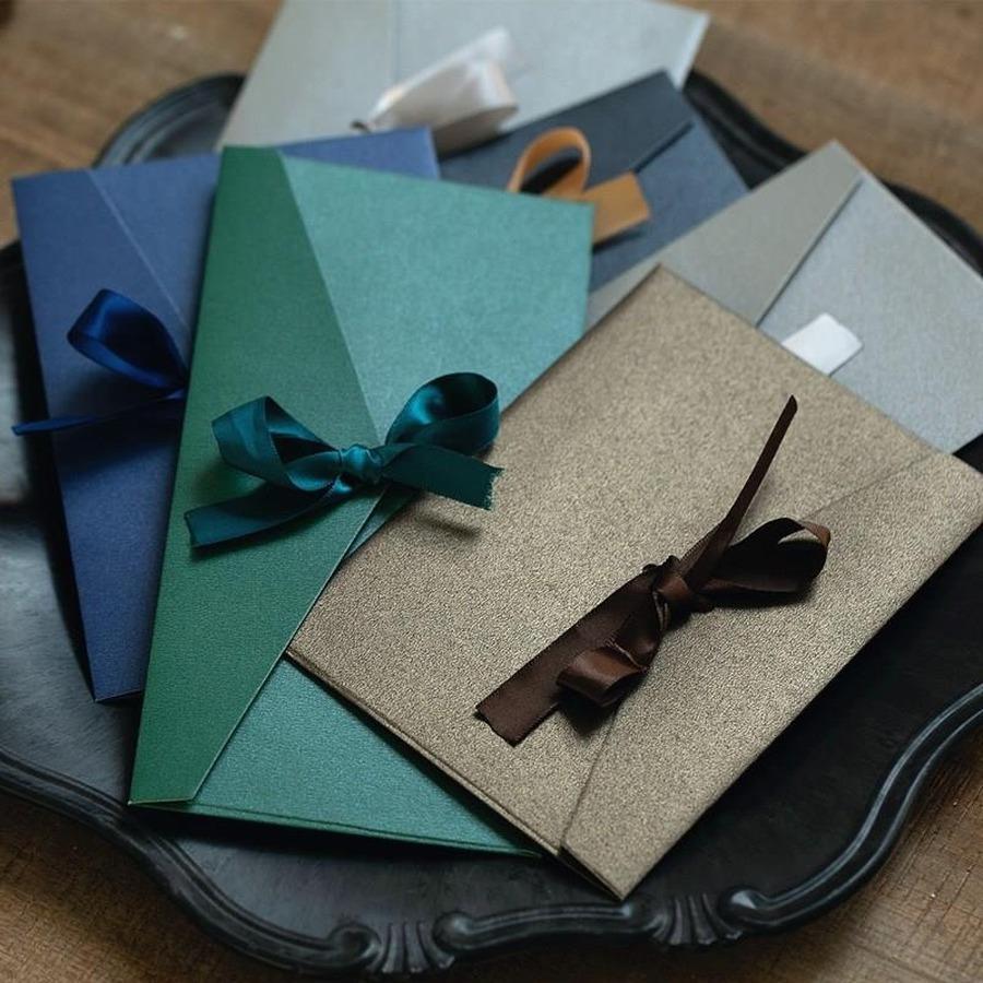 10 pz / lotto Buste perla vintage per lettere mailer impostare la busta di lettera kraft per invito a nozze invito a conduzione regalo stazionario