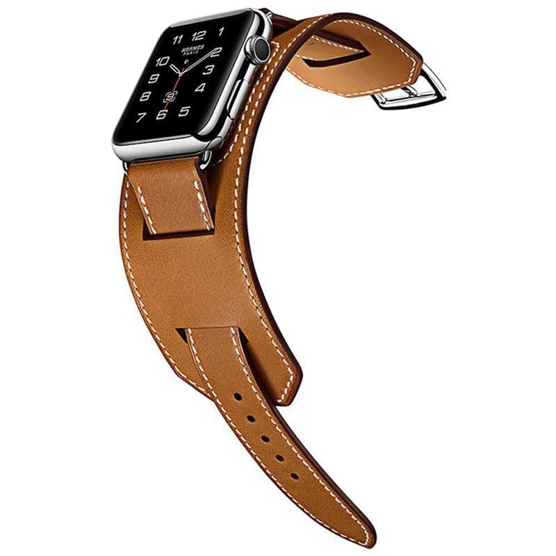 Banda de reloj de cuero genuino para Apple Watch 5 44mm 40 mm 38mm 42mm banda de reloj de correa de pulsera 4 3 2 1 Acceso de reemplazo