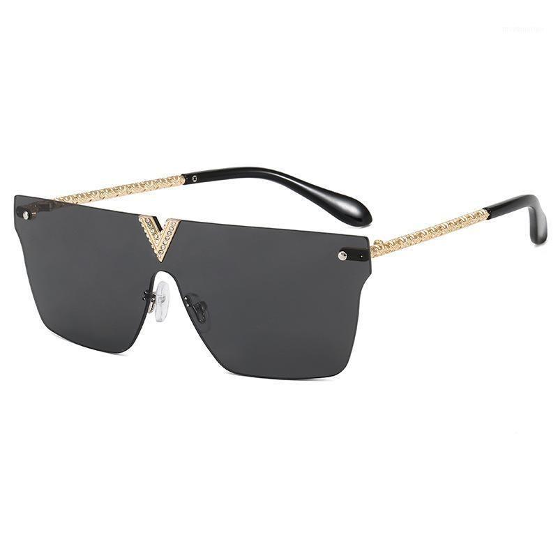 One Luxury Square Skirless Lens Femme 2020 de lunettes de soleil Sun Feminino Hommes Oculos Sol Gafas Sol Gafas Lunettes Lentes Mujer UV4001 HCBCH