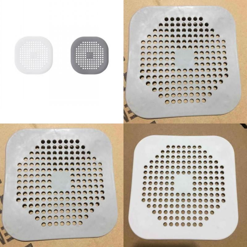 Shower Room Sewer Filter Screen Kitchen Water Tank White Grey Strainer Anti Clogging Silicone Floor Drain Cover 1 5sq J2