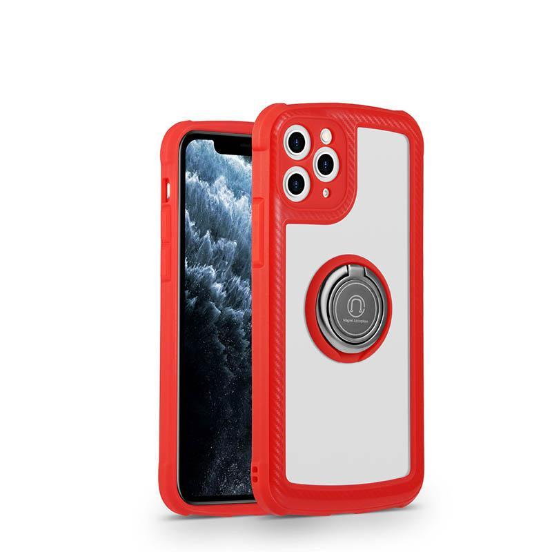Funda para teléfono móvil con soporte de anillo para iPhone12PRO MAX 11PRO 7PLUS XR XS MAX X 8 7 Tapa trasera