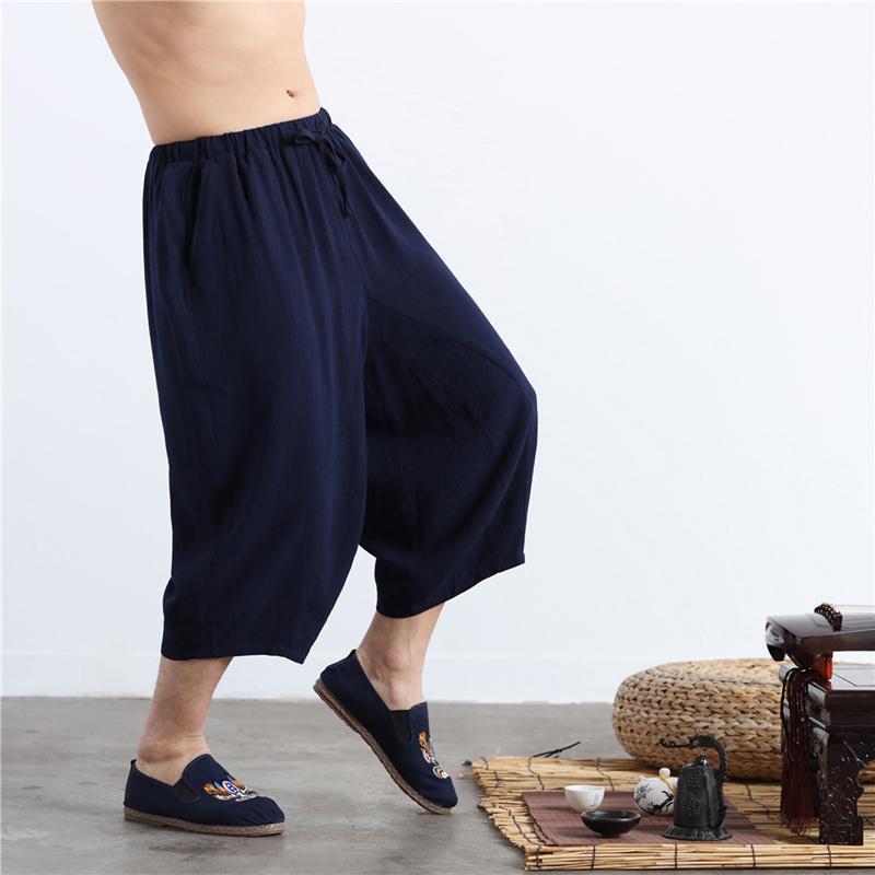 Pantalones cortos para hombres Lzjn Moda Hombres 2021 Verano Largo Cintura Alta Hombres Ropa Casual Bermudas Flax Playa Corta Playa Playa Hombre