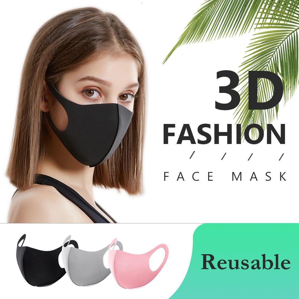 Máscara de algodão Crianças Protetor Adulto Máscaras Pretas Crianças Reusável Poeira Designer Anti Face Lavável Moda Boca Reusável Máscaras de Pano SBHQX