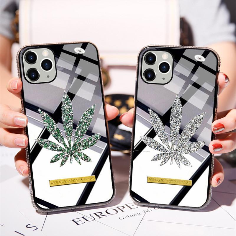 Caja del teléfono del diamante del brillo de lujo para el iPhone 11 Pro House Side Bling Bling Cubierta trasera para iPhone X XS MAX XR 8 7 6 PLUS
