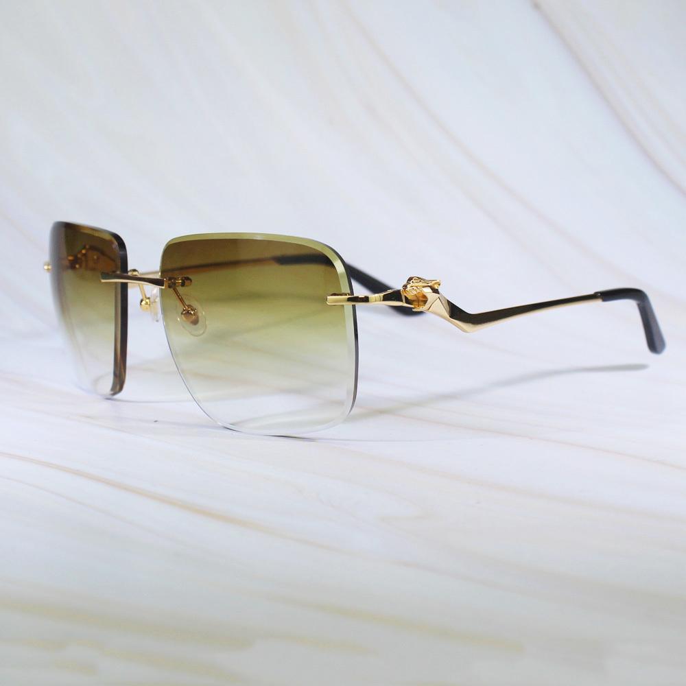 Tonalità nella piazza maschio alla moda R0A6 Design UV occhiali da sole Carter taglio Panther Diamond Classic Frame XNWCM