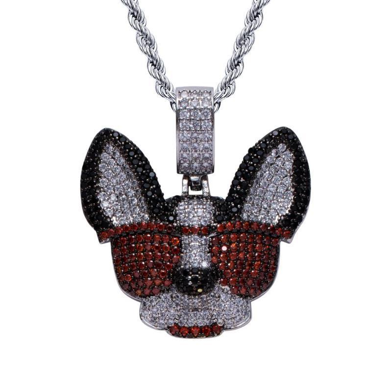 SnowAngel New Hip Hop Zubehör Chihuahua Goggy Sonnenbrille Kreative Beliebte Logo Coole Anhänger Männer Halskette