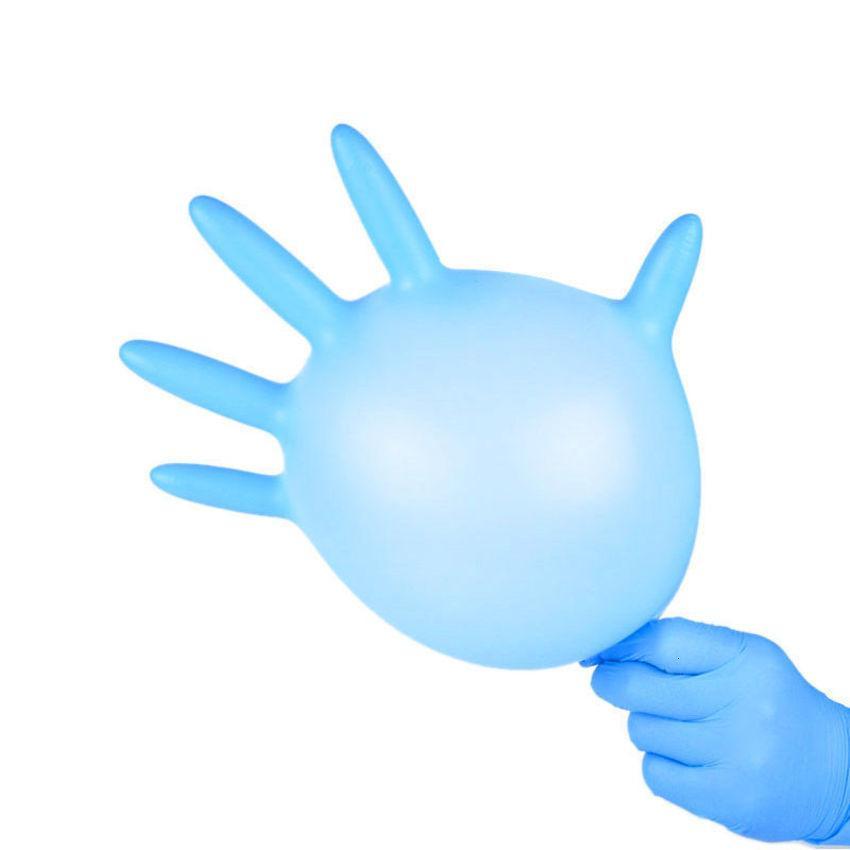 100 шт. Одноразовые перчатки Фабрика Price Price Bree 9 MIL Длинная нитриловая рабочая перчатка OC23