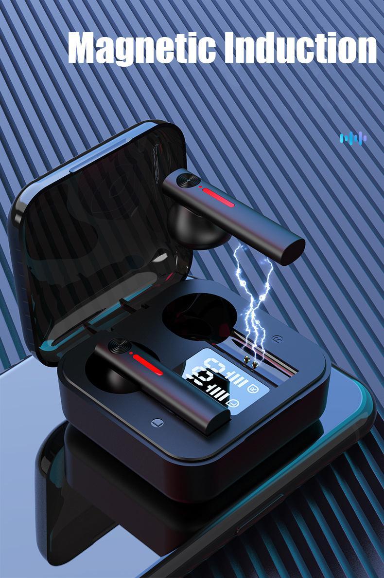새로운 블루투스 이어폰 T13 무선 헤드폰 LED 마이크 이어폰으로 TWS 이어폰 취소 헤드셋 이어 버드