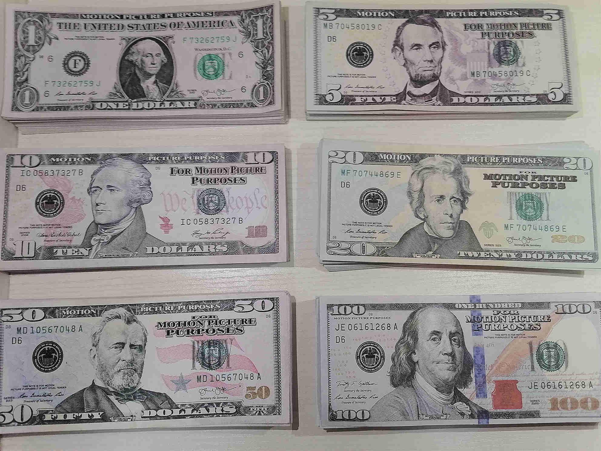 Banconote di puntelli di insegnamento di $ 20 di Amazon transfrontaliere