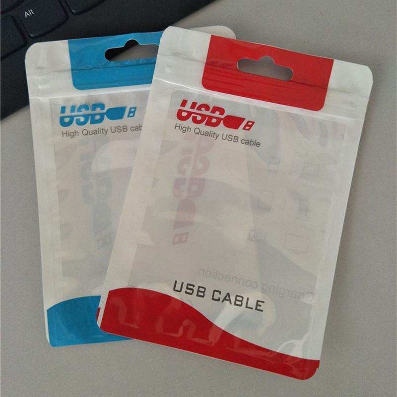 OPP PVC 폴리 지퍼 소매 가방 잠금 패키지 가방 플라스틱 opp 소매 포장 패키지 주머니 가방 케이블 충전기