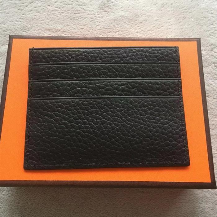 Echte Fotos magische Brieftasche ultradünnes echtes leder kartenhalter mode design männer / frauen kreditkartenhalter dünne bankausweis case mit box