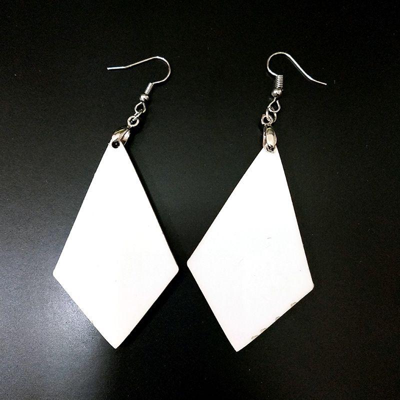 Серьги сублимации пустые белые подвески падение DIY Dangler лист ручной ручной работы на день Святого Валентина подарки Yys3268