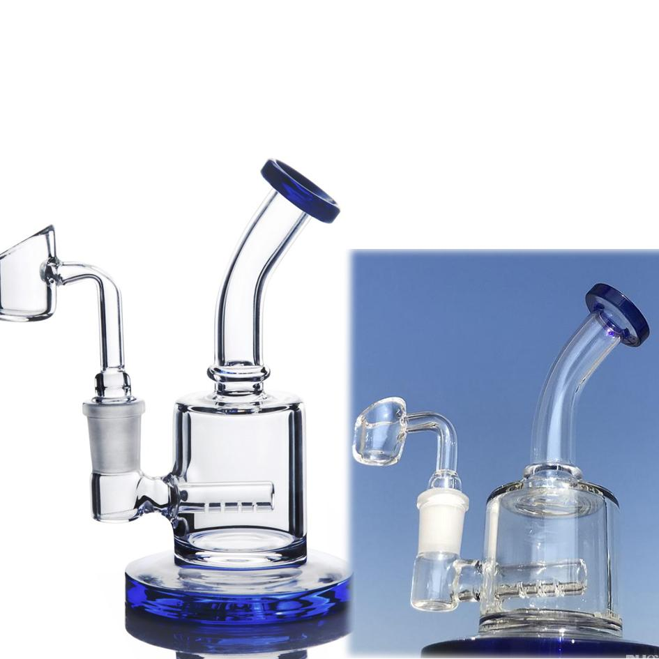 5.9 inchs Glass Mini Water Pipe Beaker Rig Bong function water bong clear perc smoking accessories waterpipes hookahs with 14mm banger