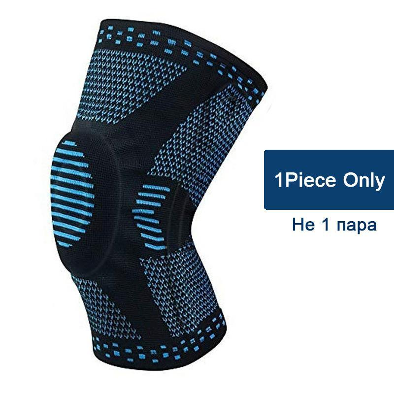 Elbow & Knee Pads 1pcs Patella Protector Brace Silicone Spring Pad Basketball Running Compression Sleeve Support Sports Kneepads
