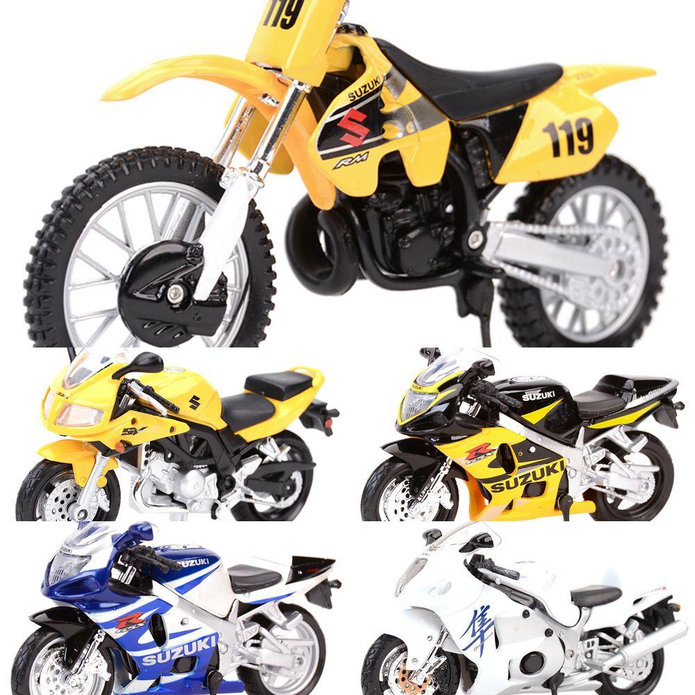 Maisto 1:18 SUZUKI GSX-R750 R600 R1000 1300R RM-Z250 SV650S Veicoli statici Die Veicoli da collezione Hobby Moto Modello Giocattoli Y1201