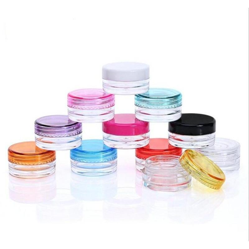 5g plastic cosmetic pot jar empty cosmetic sample container travel refillable small packaging bottle for make up eye shadow