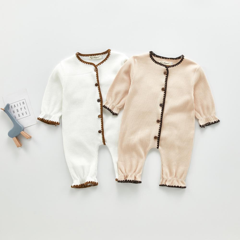 Primavera e outono Bebê Bodysuit Crianças Adorável e Bonito De Tricô Uma peça Hardcover para meninos e meninas