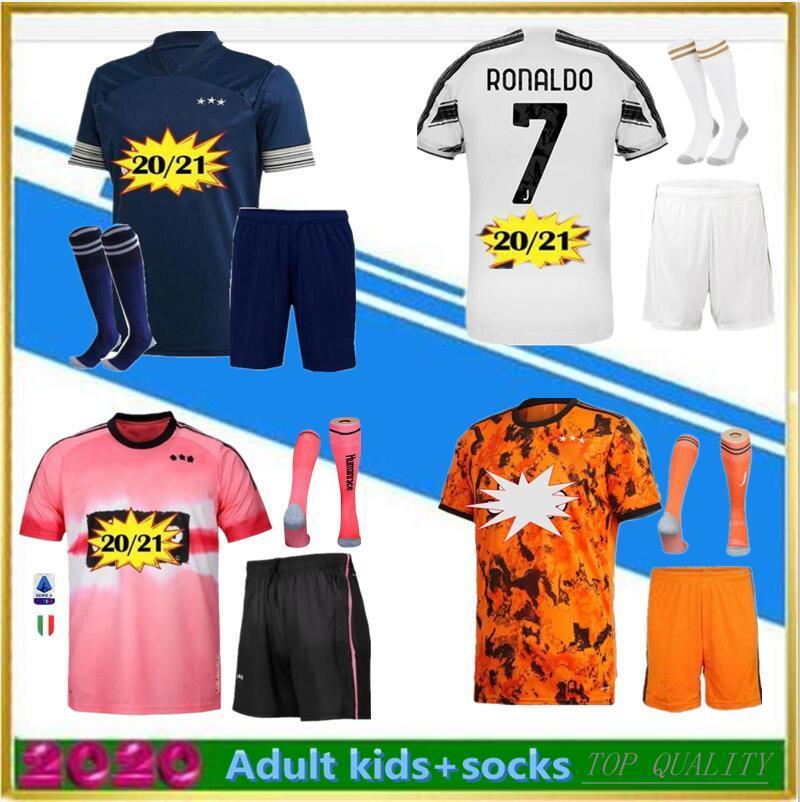 Mann und Kinder 2020 Zuhause weg 4. Fussball Trikots Camiseta de Fútbol 2020 2021 Menschliche Rennen Viertel Fußball Hemd Männer Kinder Kits + Socken