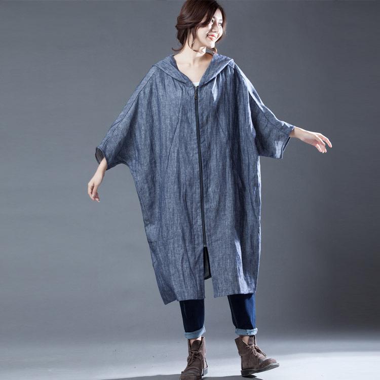 Moda casual sólido jeans trinch para mulheres manga completa longa trincheira europeia longas casacos morcegos de mangas de mangas