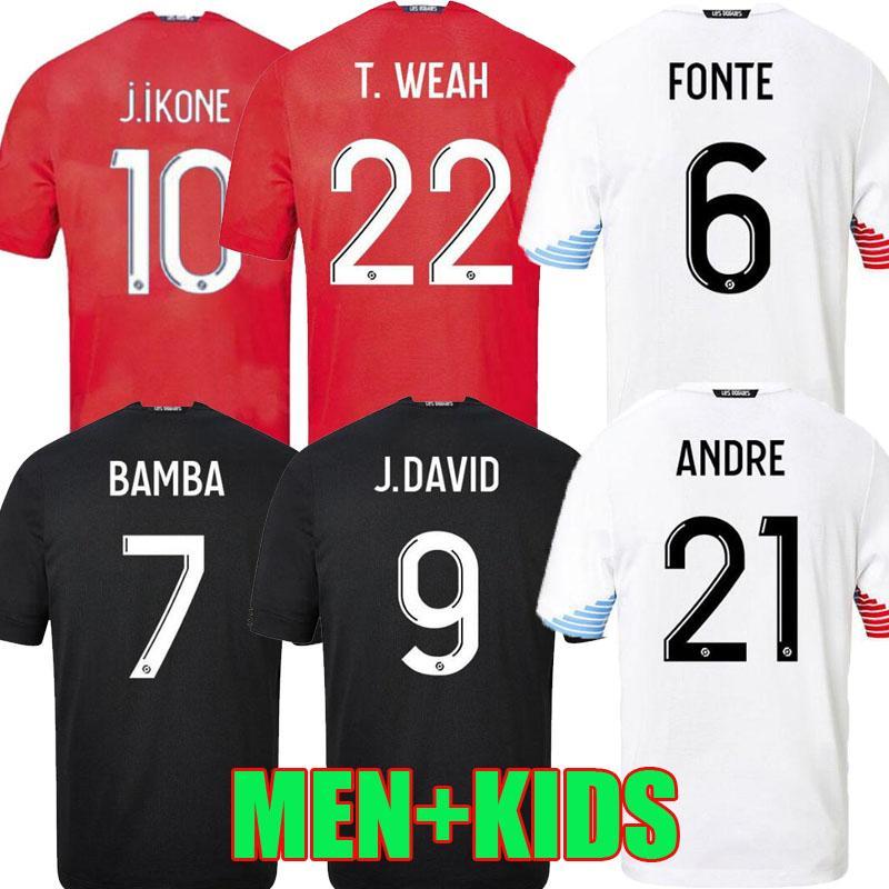 20 21 Losc Lille Soccer Jerseys Home Away Third 2020 20 21 Mailleot De Foot Sanches Osimhen Bamba Yazici Man Kit Kids Football Shirts