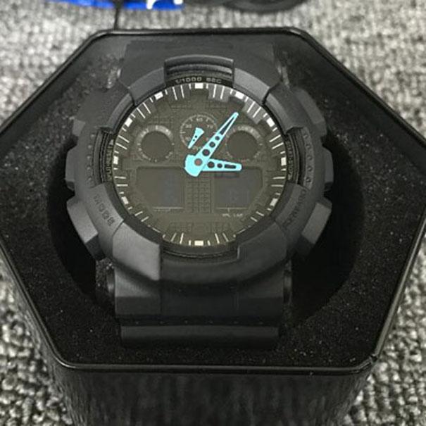 Moda Relógios Homens Mulheres Esportes Digital LED Designer Autólight À Prova D 'Água GA100 Student Marca Militar relógio com caixa