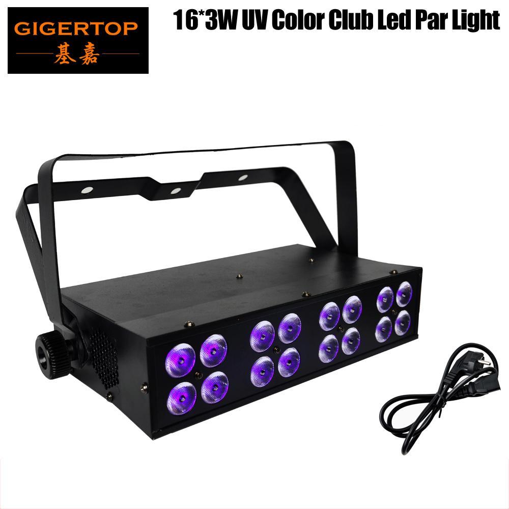 Freies Verschiffen 16X3W LED Bar UV Blacklight Mini Größe LED Bühnenlicht DMX 512Sound LED Bühnenlicht 4DMX Amerikanisches DJ Lila Bühnenlicht