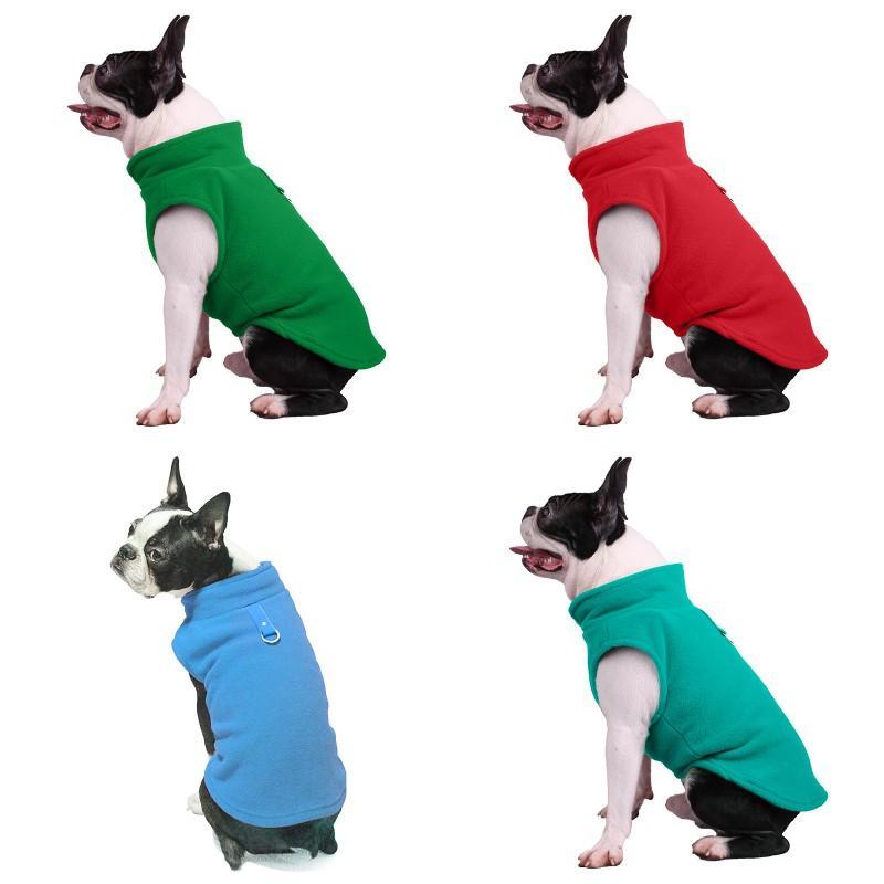 Herbst winter hund kleidung outdoor reine farbe mode halten warme fleece hunde jacke haustier liefert neue muster 9 9bl j2