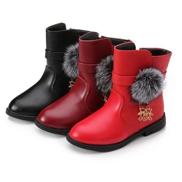 Девушка моды сапоги осенью зима 2020 новый Han Edition принцесса девушка добавить шерсть хлопок Мартин сапоги детские спортивные туфли Q1214