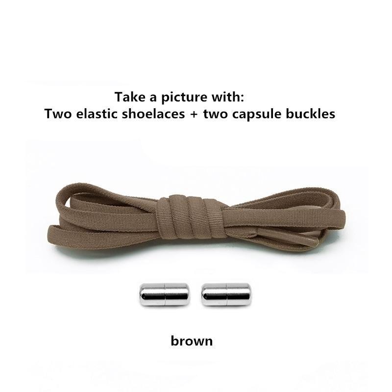 1 çift metal kilidi yuvarlak elastik erkek ve kadın ayakkabı bağcığı kauçuk özel tieless çok renkli tembel ayakkabı bağcığı