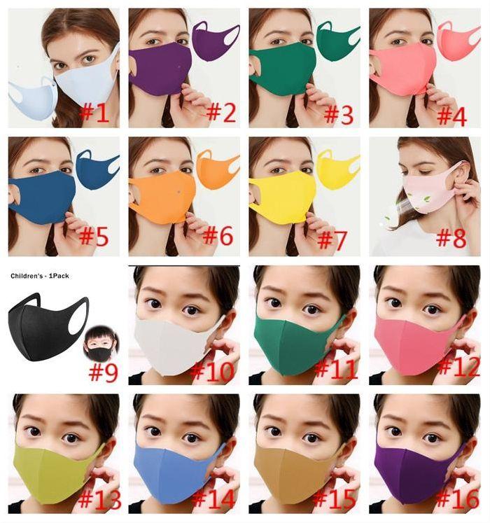 Pamuk FaseMask Kullanımlık Yetişkin Moda Siyah Yıkanabilir Nefes Yüz Maskeleri Kayak Koruyucu Maskeleri