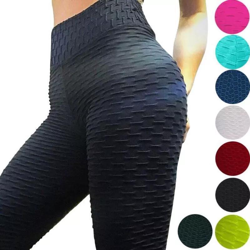 Yoga Outfits Pantalones De Sexy Para Mujer, Mallas Deportivas Jacquard, Correr, Estrechos Cintu