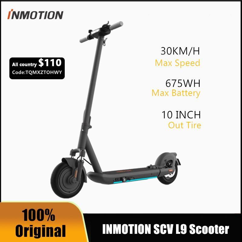 EU Stock Original INMOTION SCV L9 Smart Electric Scooter Foldable KickScooter 1000W 95KM Range Dual Brake Skateboard With APP