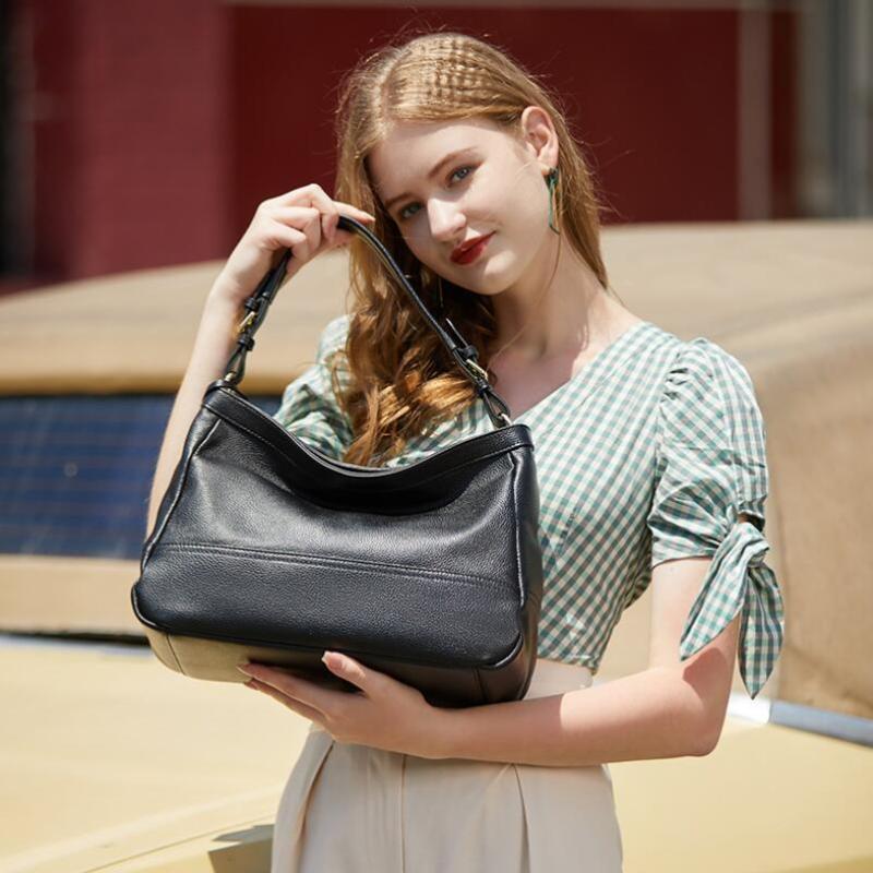 Sac épaule sac à main femmes grand sac à main élevée Haut Véritable Chsanato Hobo fourre-tout Sacs de fourre-tout Qualité Soft Designer Cuir Bandbody Dame HMSTT