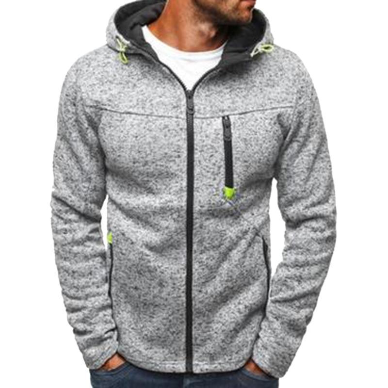 Jolie Sweats Sweats SweaterShirt Men Causal Streetwear Sweatershirt Plus Taille Automne Zipper Solide Patchwork Cardigan