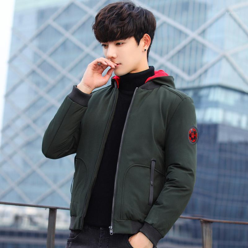 Даже шляпа хлопчатобумажная одежда мужская зима зима самооценки сплошной цвет свободного пальто человека свободно пальто мужская хлопок1