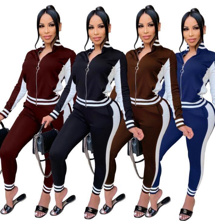 TrackSuit Streetwear Patchwork SweatSuit Pantalon de piste Femme Pantalon Jogger Active Tracksuit Two Piece Fitness Outfit Ensemble