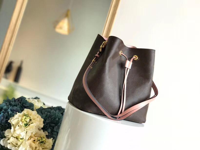 Moda mulheres luxo bolsa de couro genuíno marca designer bolsa bezerro único ombro diagonal néonoé bolsa m44020 m44022 m43569 m44021