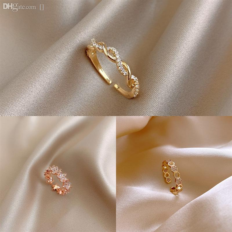 OGU2N El anillo individual japonés y coreano Último Twist Fashion Ring Diamond Jewelry Anillos de la nariz 22G El anillo de color de oro del anillo de los elementos lisos