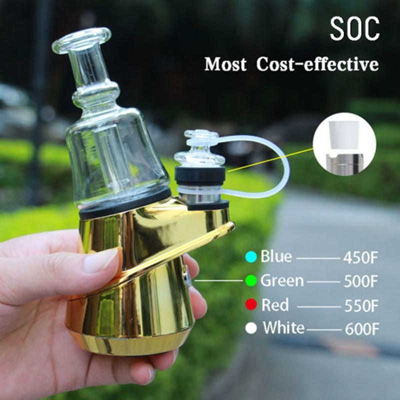 SOC enail Kit 2600mah TC Box Mod With Wax Vape Bowl Dabber Electronic Cigarette Glass Bong Dab Rig E Cig