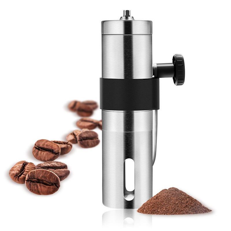Moedor de café manual de aço inoxidável com cerâmica ajustável Burr, moinho de manivela de mão, tamanho compacto perfeito para sua casa, escritório ou t