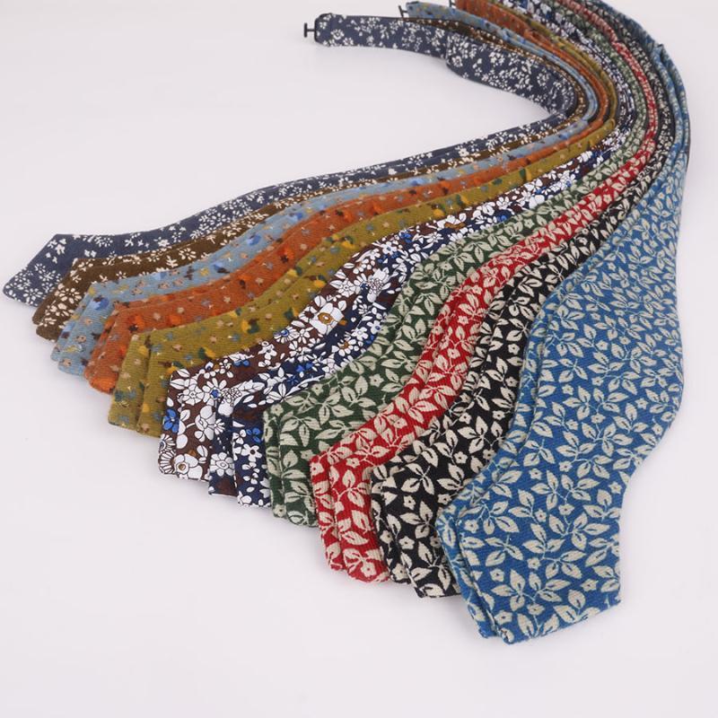Cravate à cou Coton Hommes Bowties Cravate auto-arc de nœud papillons pour femmes Craves de mariée Broftie Crava