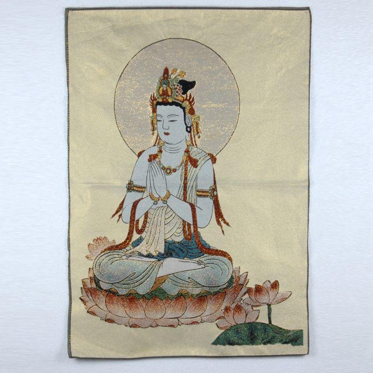 Tibetan Buddhism Antiques Handmade embroidery silk Pattern Thangka TK40