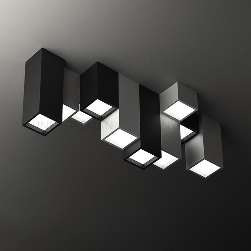Breve moderna de acrílico creativo geométrico Combinación de LED Lámparas accesorio de iluminación de la plaza principal de Deco personalizada de techo lámpara se enciende